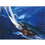 Blue Water 2016 I Acryl auf Leinwand 100 x 80 cm