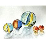 Glaskugeln II 2017 I Aquarell I 40 x 30 cm
