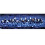 Stadt am Wasser I 2015 I Acryl und Fotografie auf Leinwand I 200 x 70 cm
